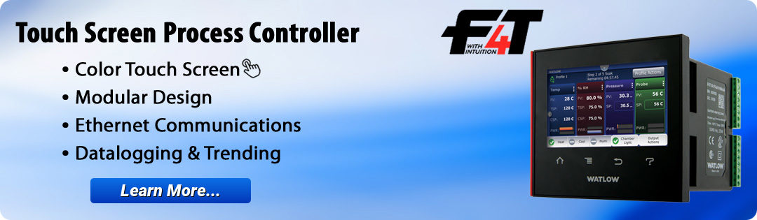 Watlow F4t Touch Screen Process Controllers